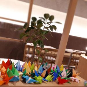 折り鶴パフェとチーズ風車